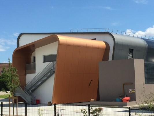 Couverture de la chaufferie biomasse en composite aluminium, Fleury-les-Aubrais